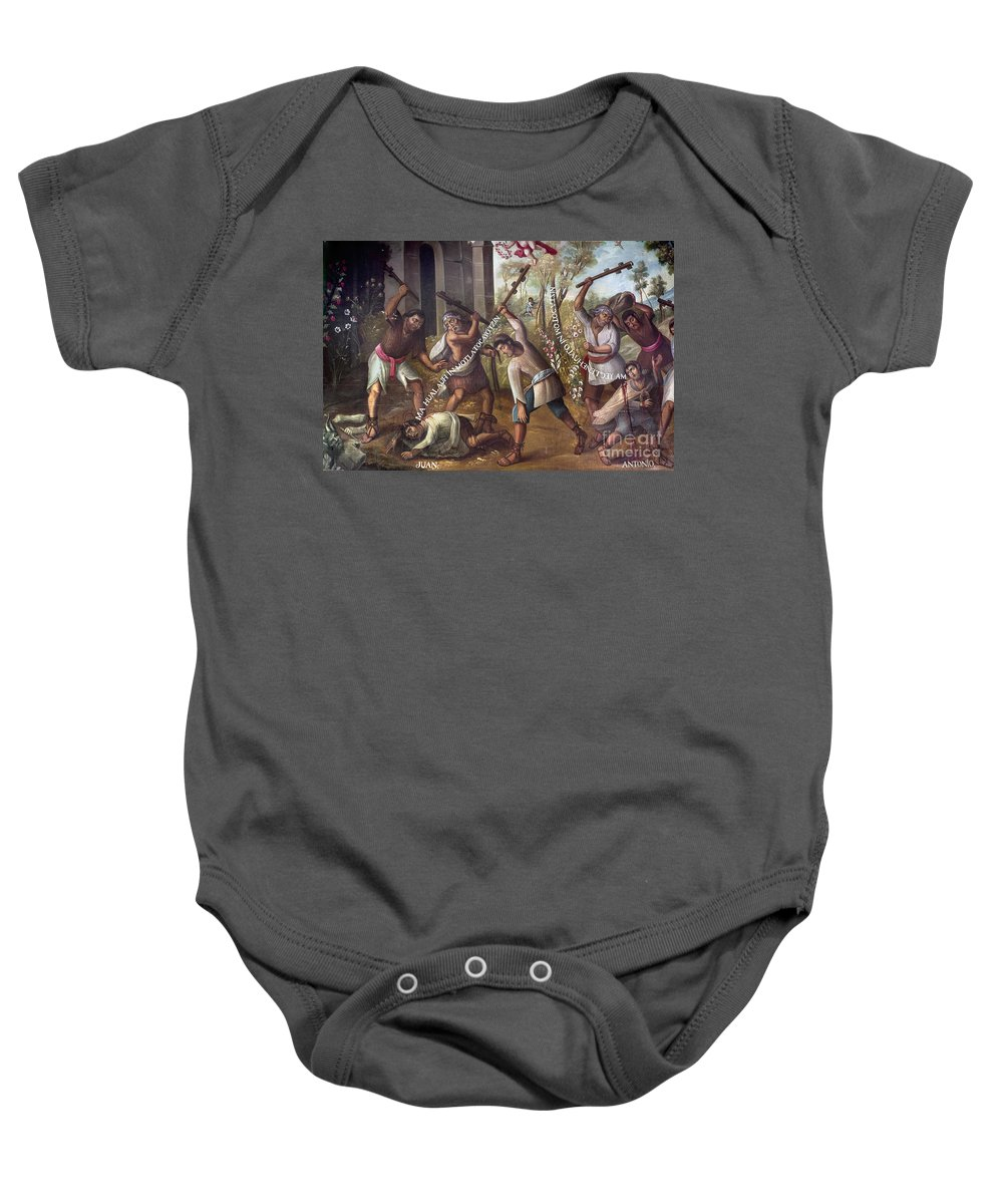 18th Century Baby Onesie featuring the photograph Mexico: Christian Martyrs by Granger