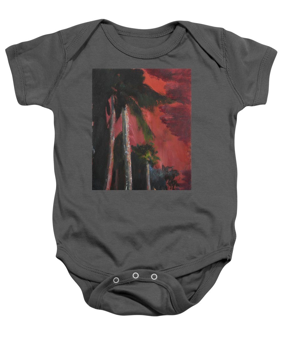 Miami Baby Onesie featuring the painting Miami Beach by Craig Newland