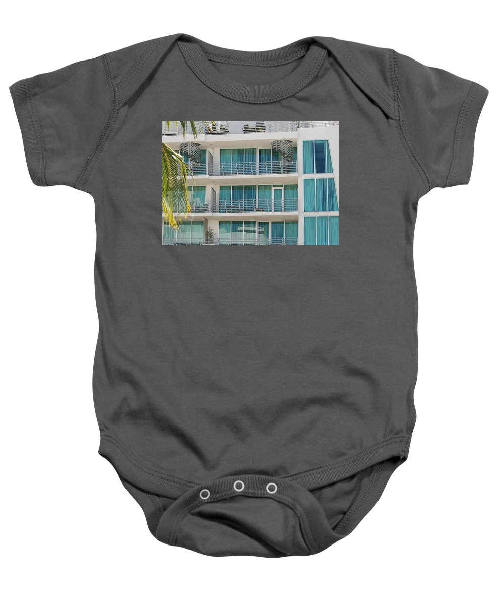 Architecture Baby Onesie featuring the photograph Miami Vice by Rob Hans