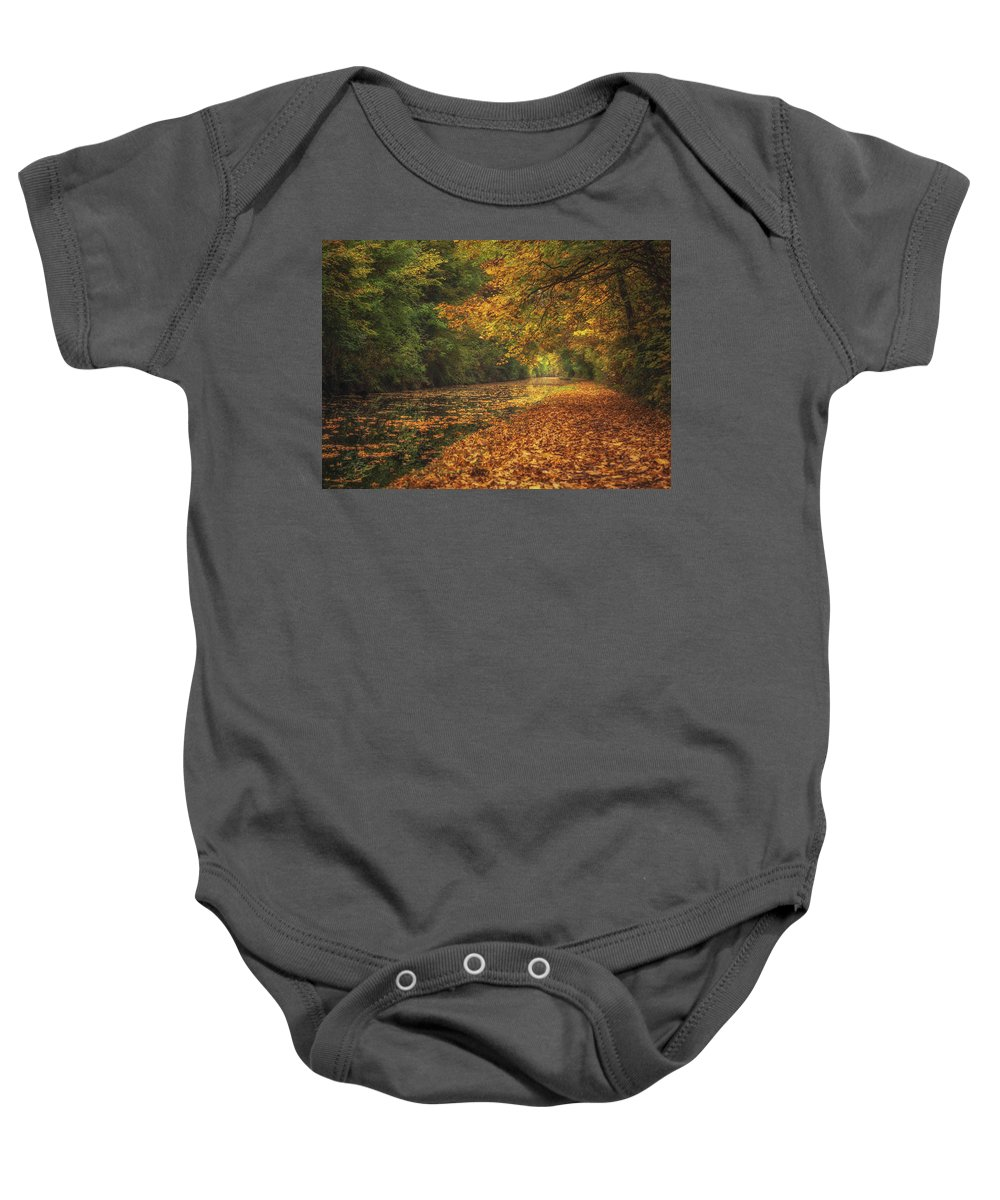 5x7 Baby Onesie featuring the photograph Mid Autumn On The Grand Union No 4 by Chris Fletcher