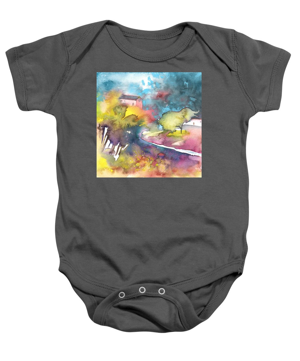 Landscapes Baby Onesie featuring the painting Midday 17 by Miki De Goodaboom