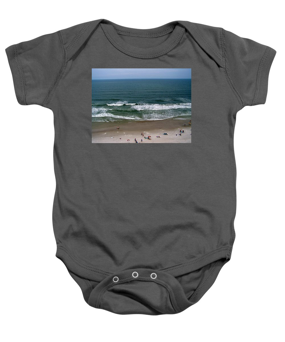 Ocean View Baby Onesie featuring the photograph Mighty Ocean Aerial View by Patricia Taylor