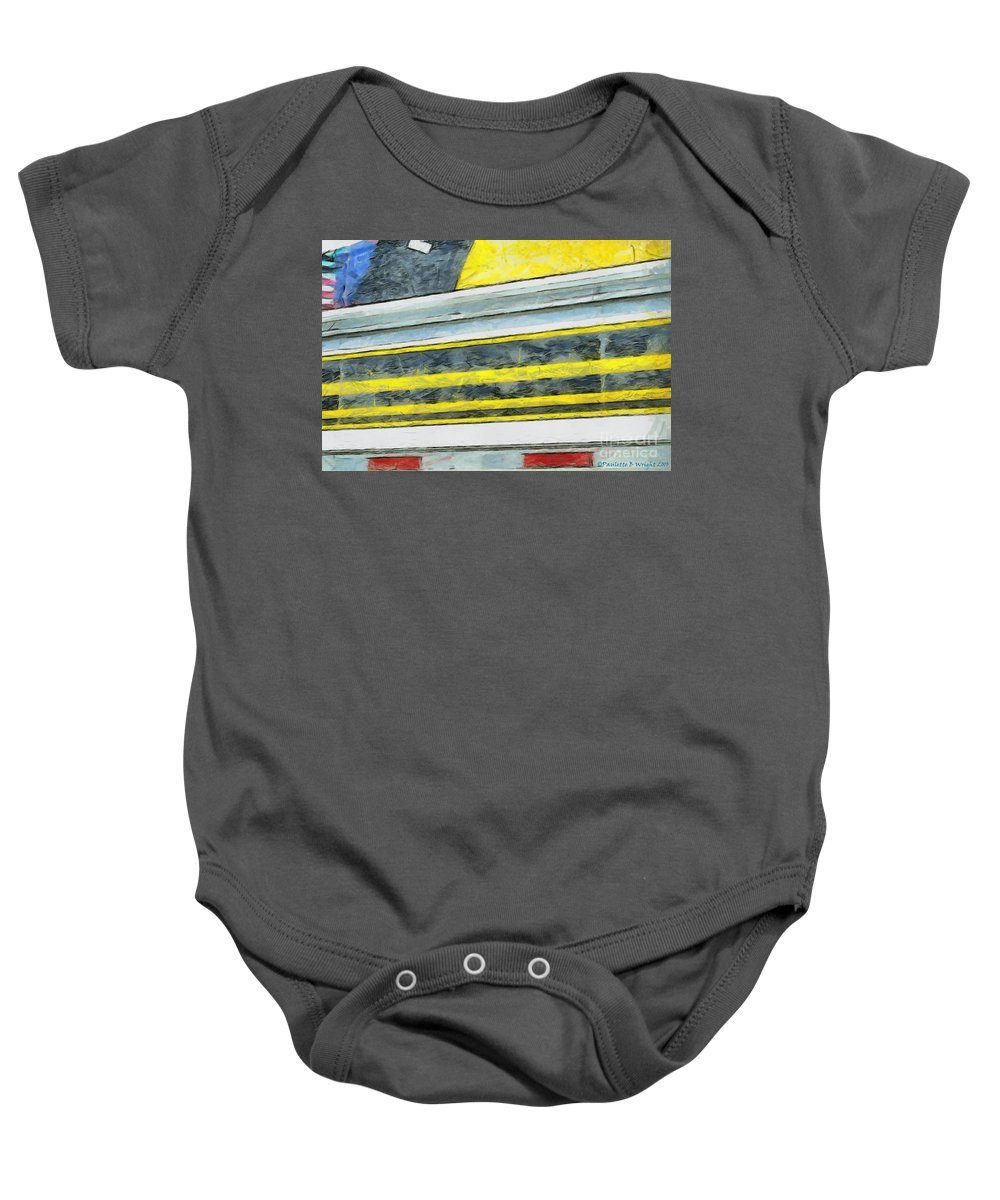 Black Baby Onesie featuring the photograph Miles To Go I by Paulette B Wright