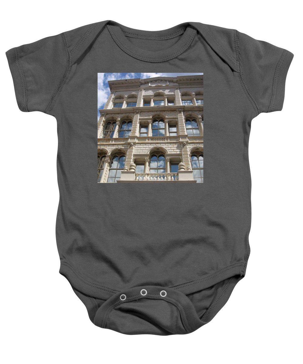 Milwaukee Baby Onesie featuring the photograph Milwaukee Cloud Reflections by Anita Burgermeister