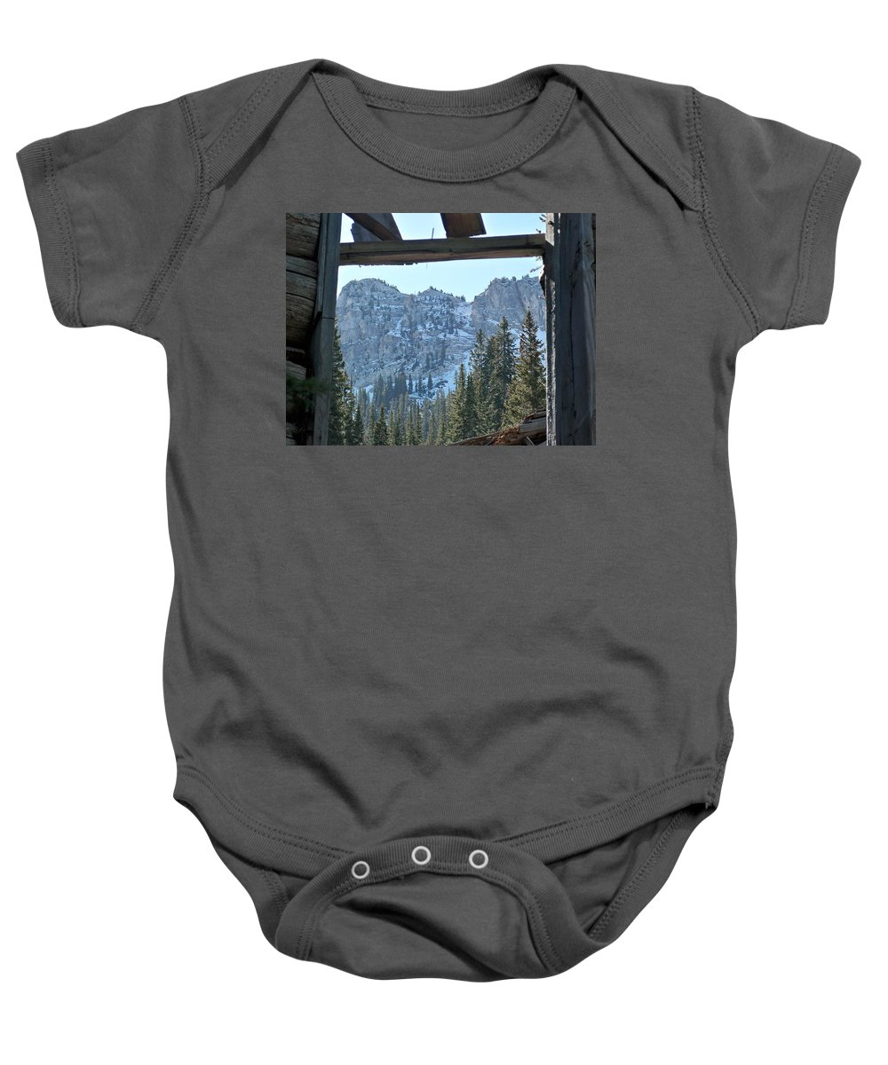 Mountain Baby Onesie featuring the photograph Miners Lost View by Michael Cuozzo