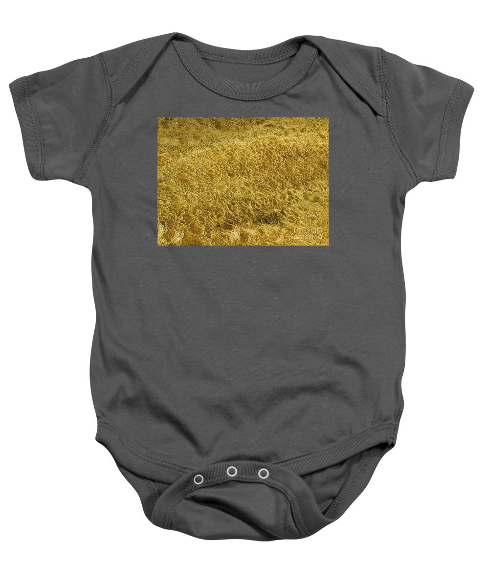 Minerva Terrace Baby Onesie featuring the photograph Minerva Terrace Detail 5 by Tracy Knauer