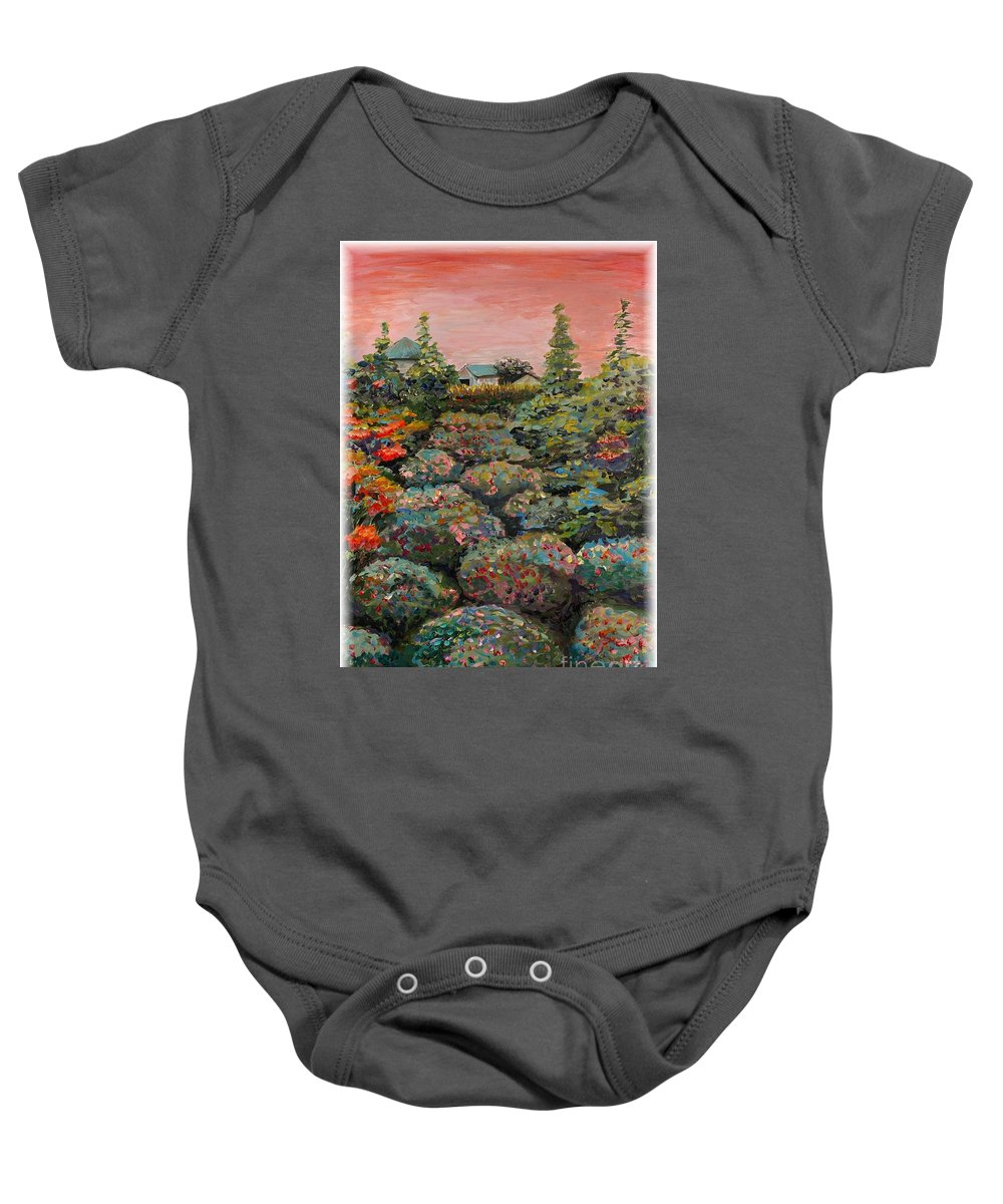 Minnesota Baby Onesie featuring the painting Minnesota Memories by Nadine Rippelmeyer