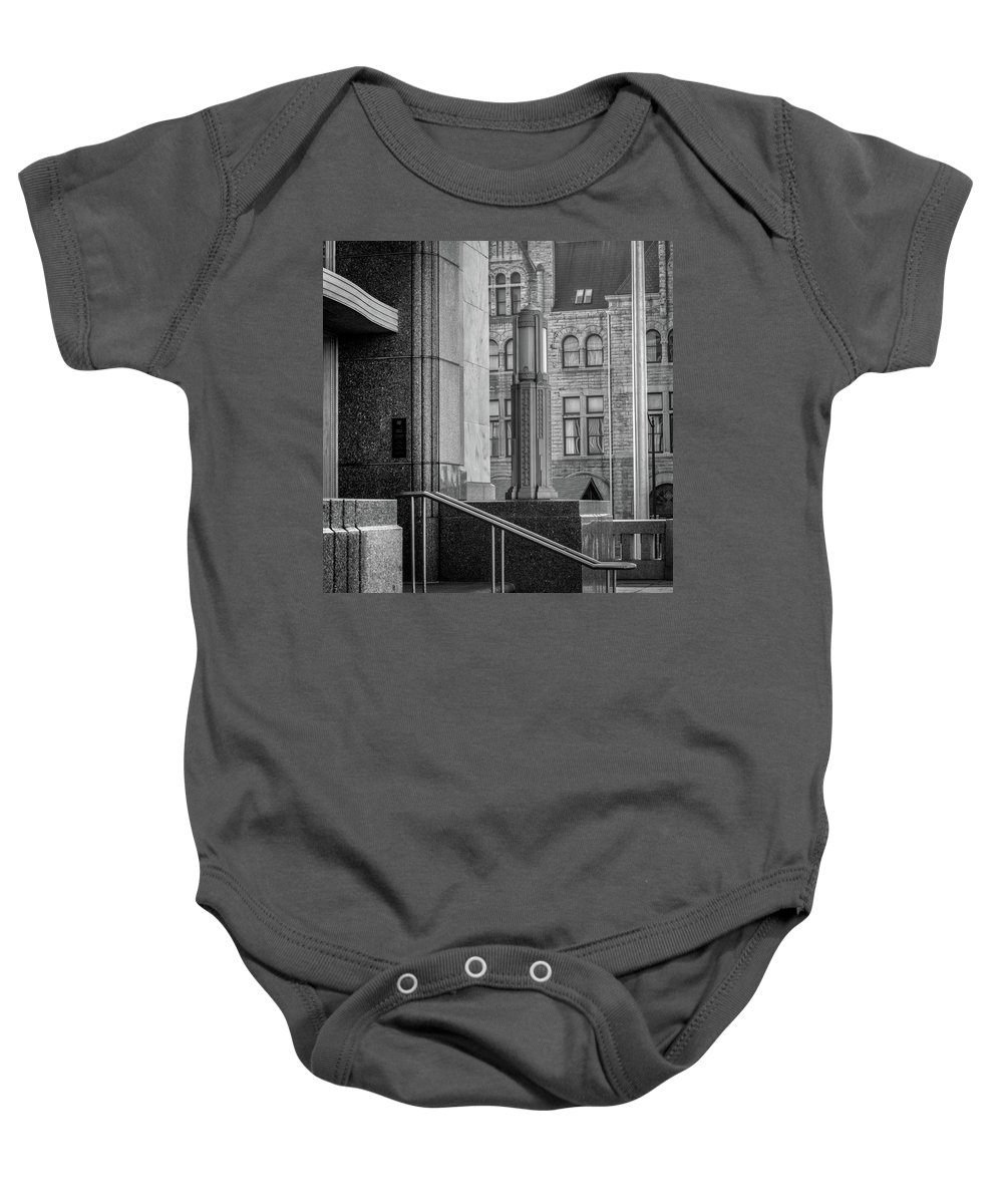 Art Deco Baby Onesie featuring the photograph Mixed Architecture by Samuel M Purvis III