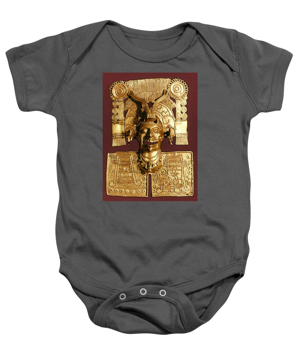 1400 Baby Onesie featuring the photograph Mixtec: God Of The Dead by Granger