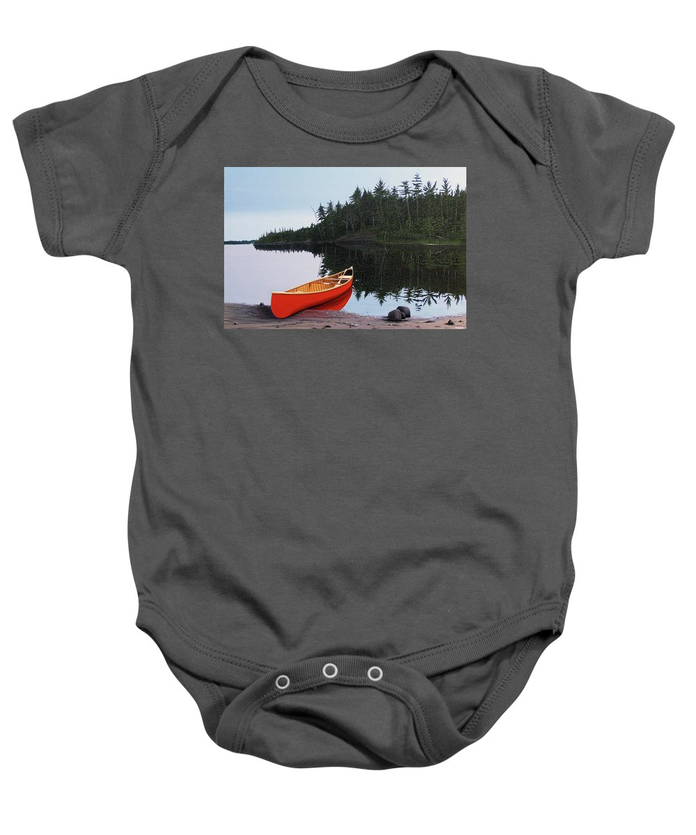 Landscapes Baby Onesie featuring the painting Moments Of Peace by Kenneth M Kirsch