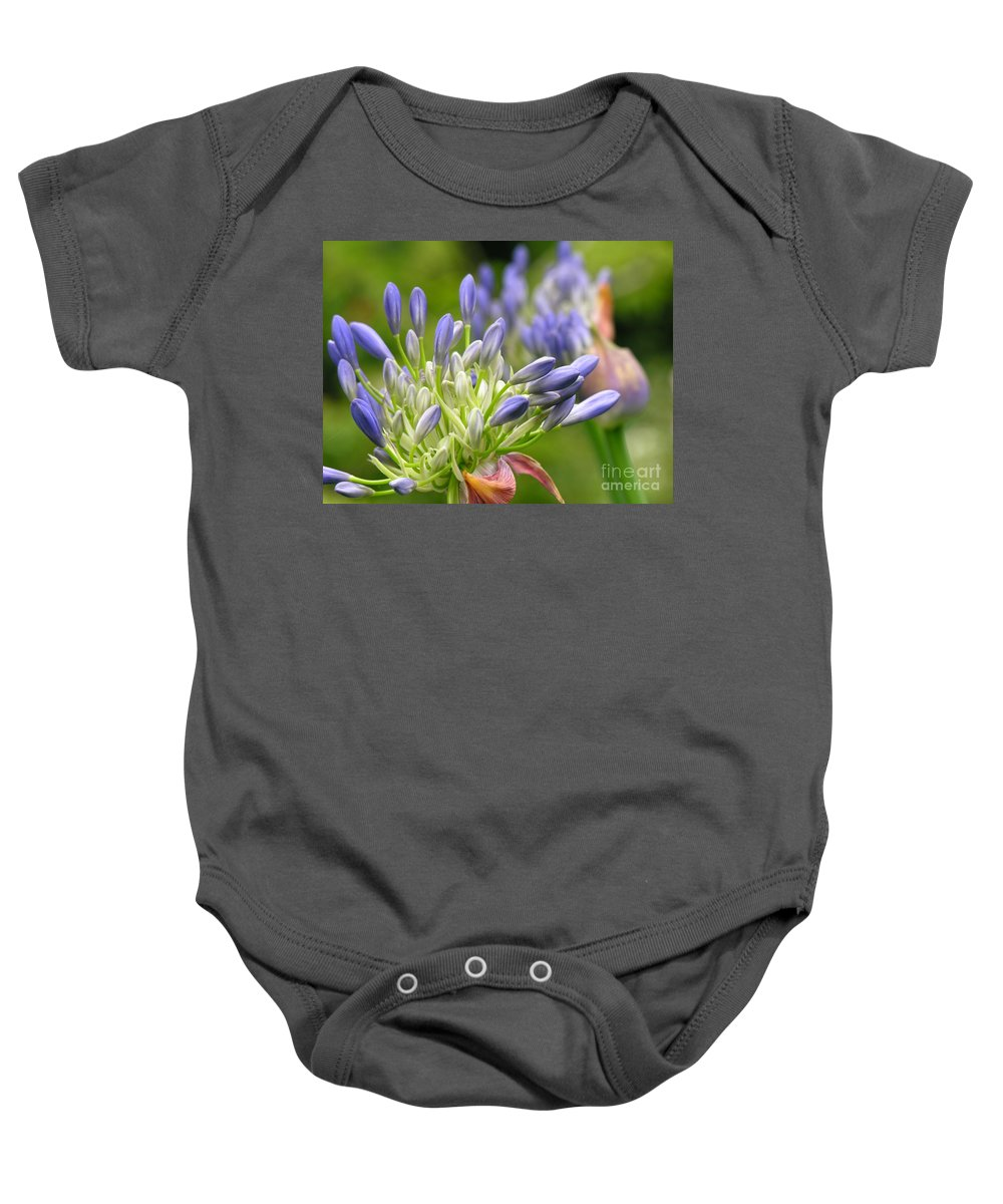 Blue Baby Onesie featuring the photograph Montana Purple And Blue by Diane Greco-Lesser