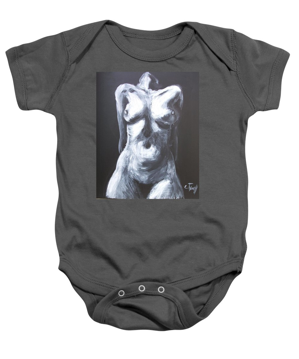 Monumental Body Baby Onesie featuring the painting Monumental Body by Carmen Tyrrell
