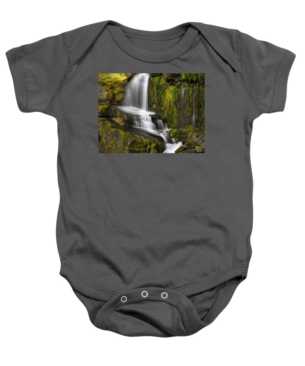 Saint Joe National Forest Baby Onesie featuring the photograph Moon Pass Waterfall by Leland D Howard