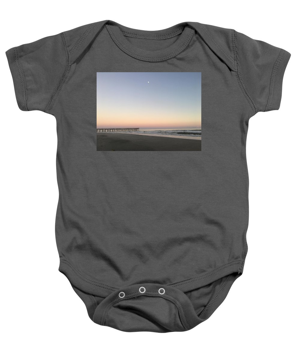 Baby Onesie featuring the photograph Moon Rise by Angela Marie