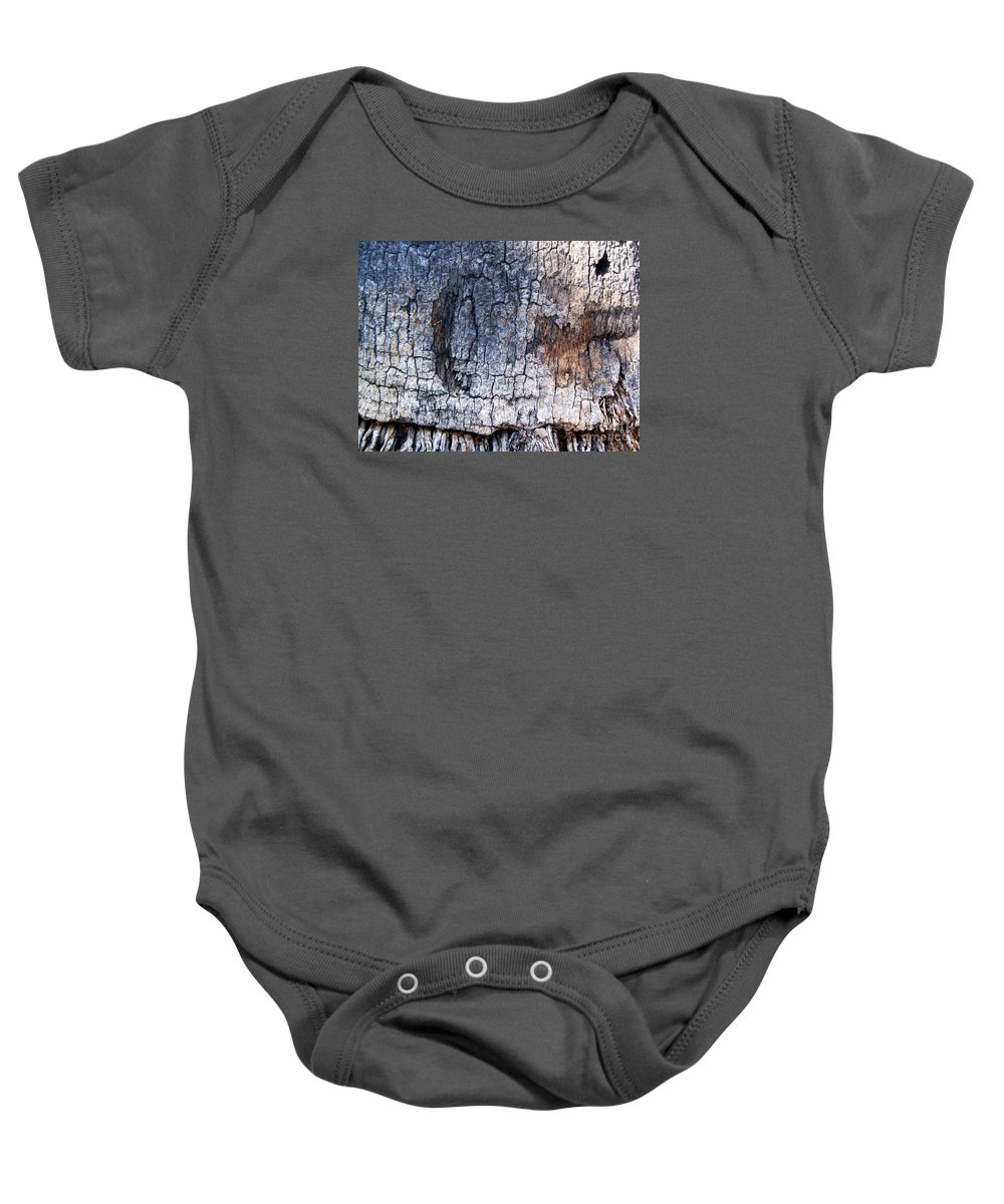 Tree Baby Onesie featuring the photograph Moon by Vanessa Palomino