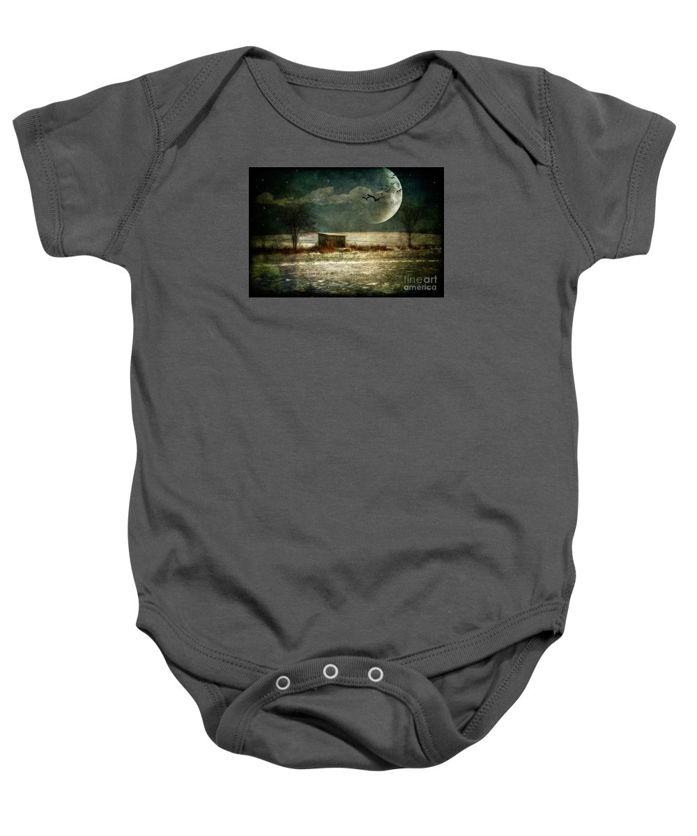 Moon Baby Onesie featuring the photograph Moonstruck by Lois Bryan