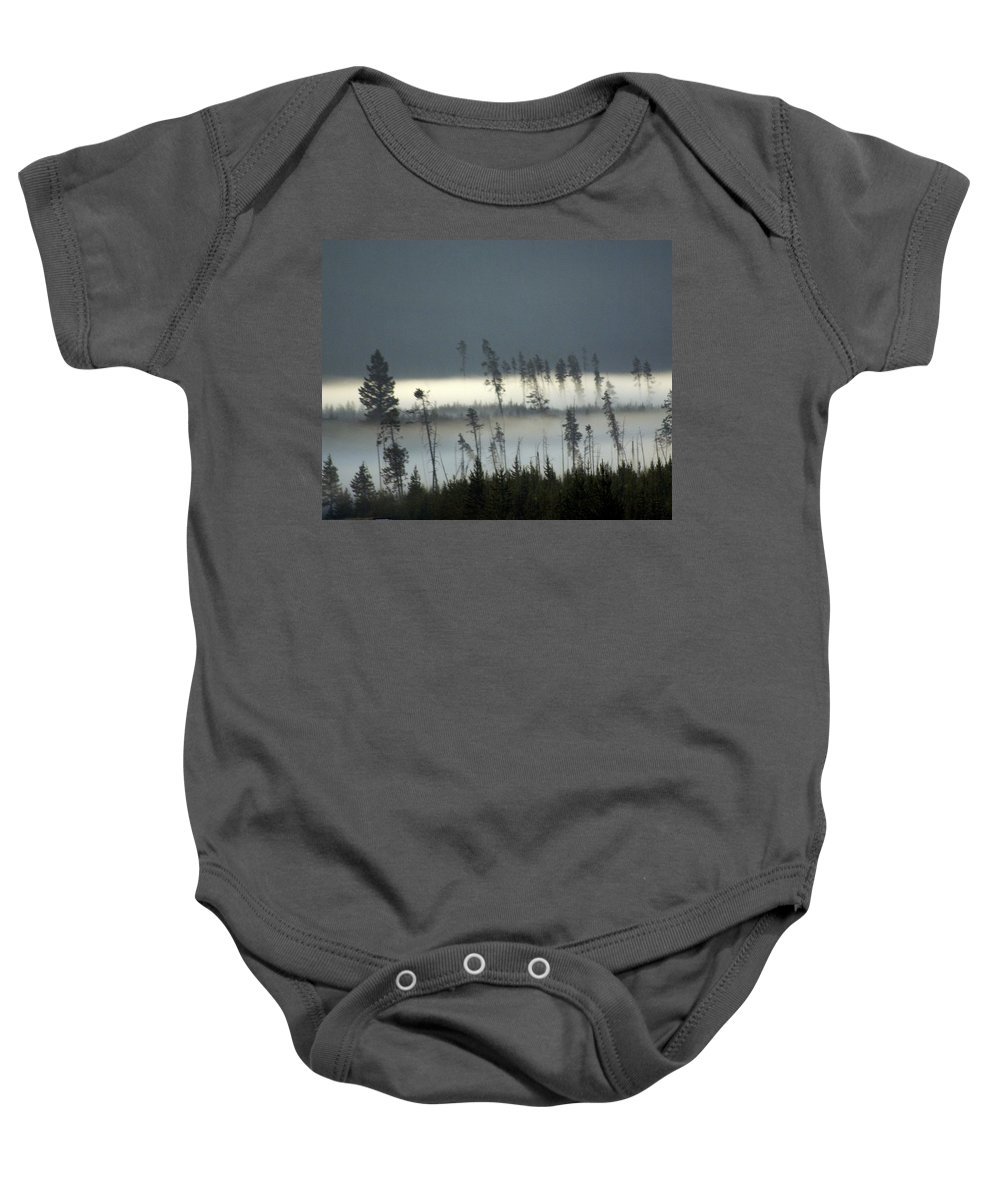 Yellowstone National Park Baby Onesie featuring the photograph Morning Along The Madison by Marty Koch