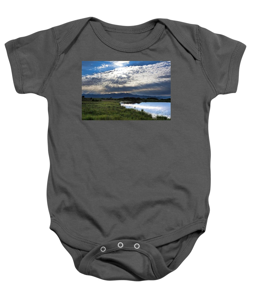 Sun Rays Baby Onesie featuring the photograph Morning Glory by Jim Garrison