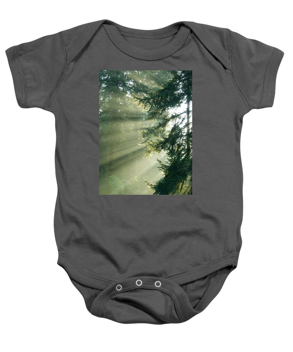 Light Baby Onesie featuring the photograph Morning Light IIi by Daniel Csoka