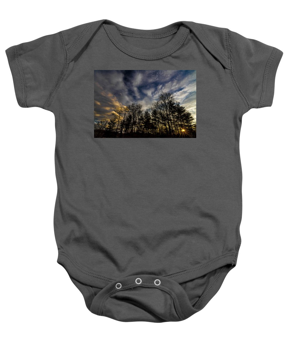 North Carolina Baby Onesie featuring the photograph Morning Sky by Stephen Brown