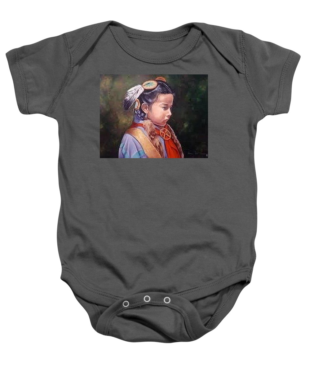 Baby Onesie featuring the painting Morning Star by Sharon Coray