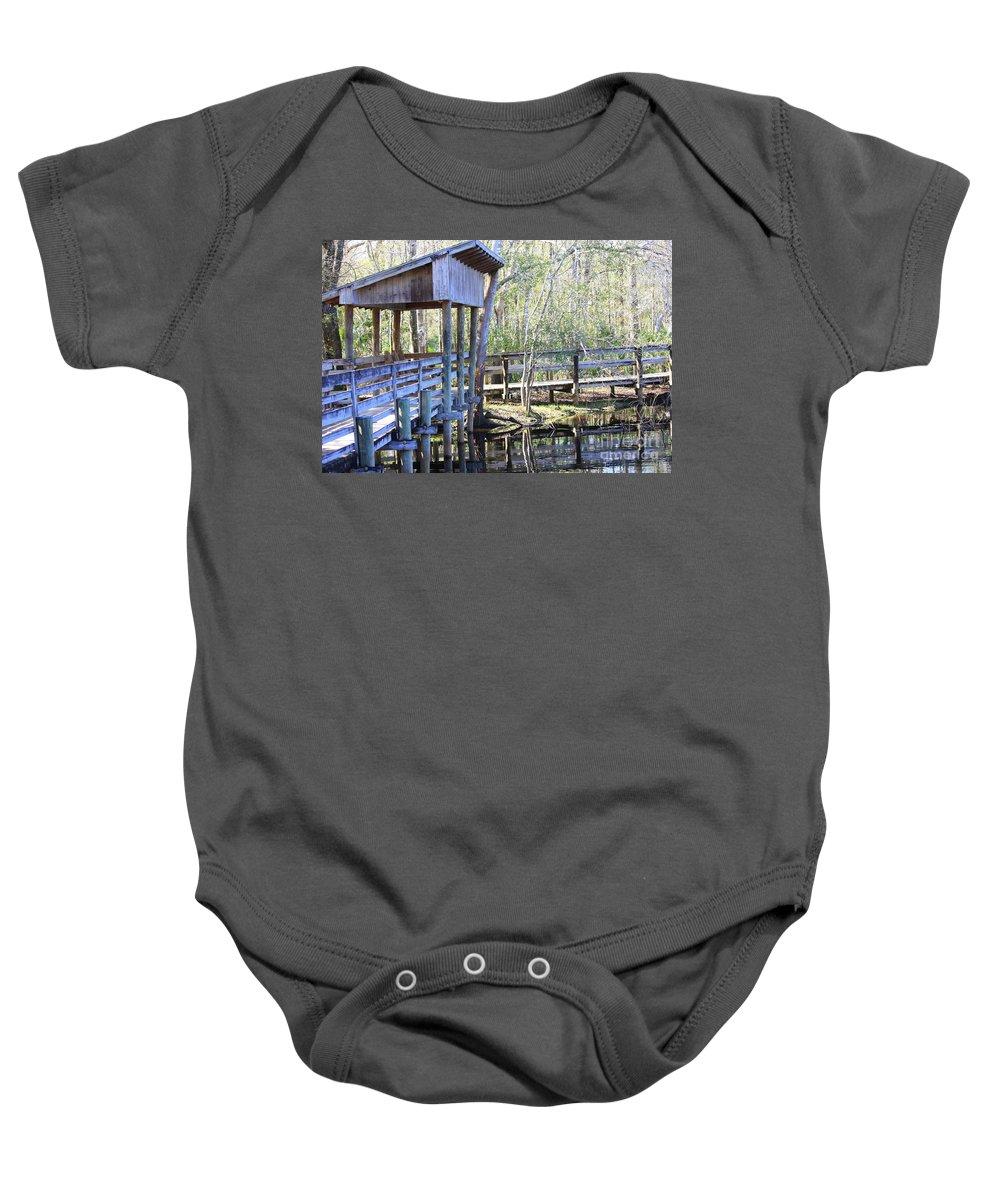 Morris Bridge Baby Onesie featuring the photograph Morris Bridge by Carol Groenen