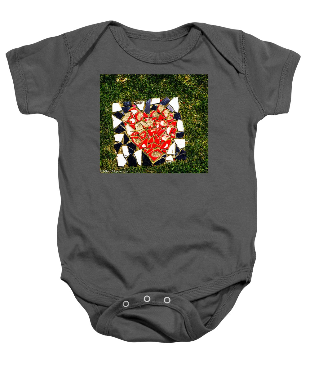 Detroit Michigan 10four12 Baby Onesie featuring the photograph Mosaic 2 by Terry Cross