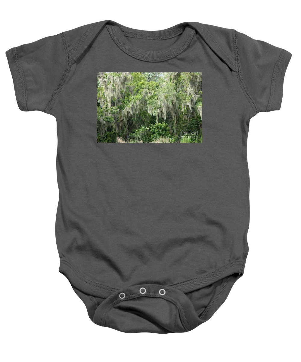 Moss Baby Onesie featuring the photograph Mossy Branches by Carol Groenen