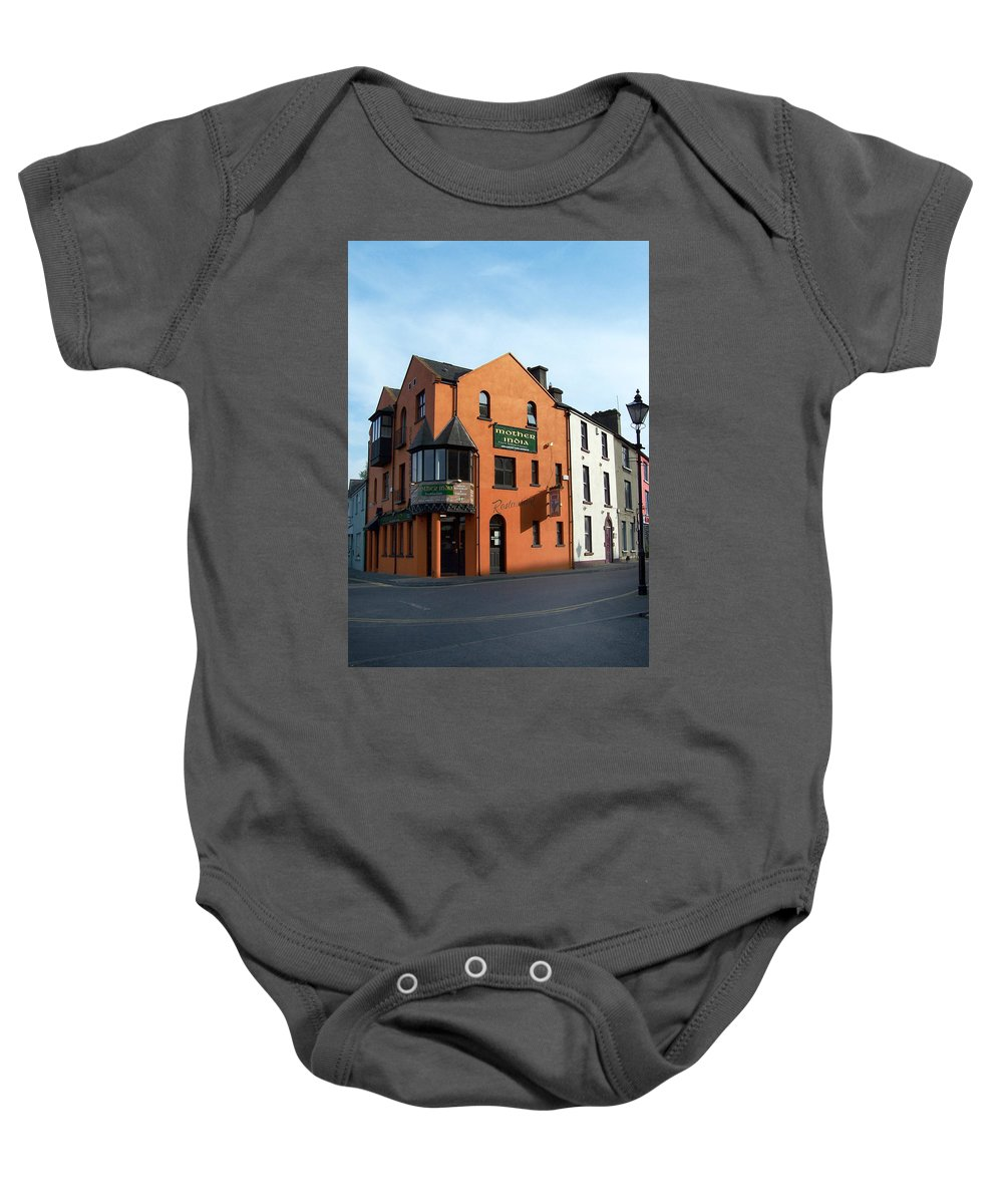 Ireland Baby Onesie featuring the photograph Mother India Restaurant Athlone Ireland by Teresa Mucha