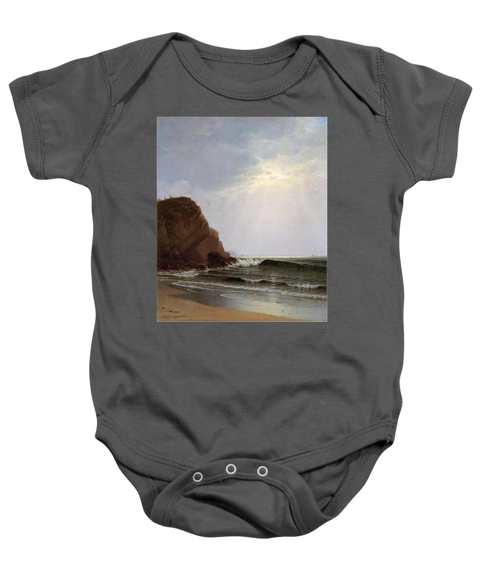 Alfred Thompson Bricher (1837-1908) Otter Cliffs Baby Onesie featuring the painting Mount Desert Island by Alfred Thompson