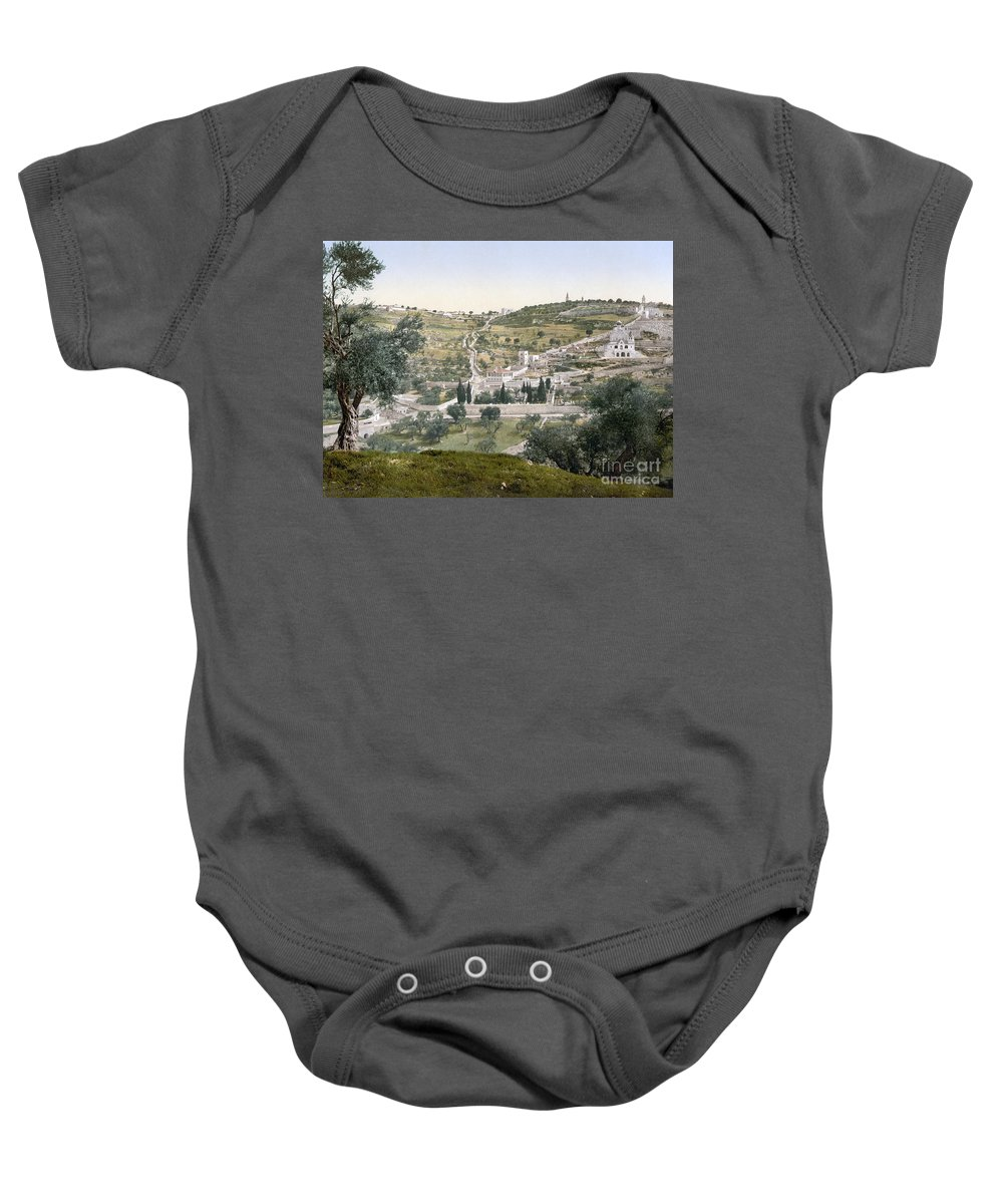 1900 Baby Onesie featuring the photograph Mount Of Olives, C1900 by Granger