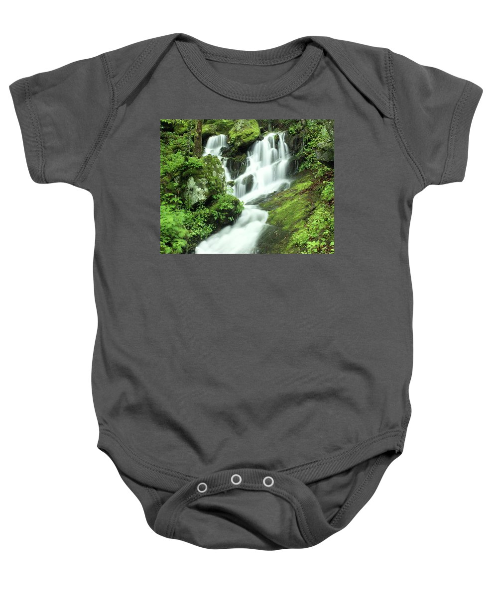 Waterfalls Baby Onesie featuring the photograph Mountain Falls by Marty Koch