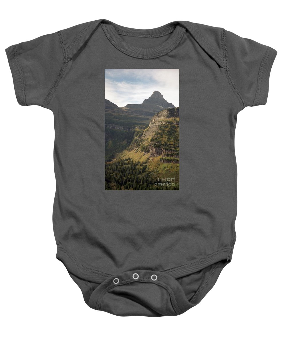 Glacier Baby Onesie featuring the photograph Mountain Glacier by Richard Rizzo