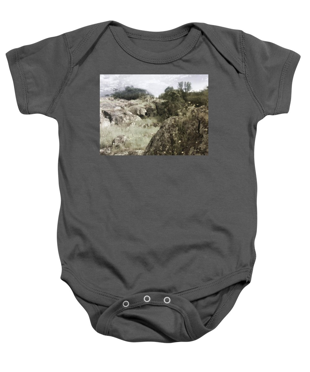 Landscape Baby Onesie featuring the photograph Mountain Lion Country by Karen W Meyer