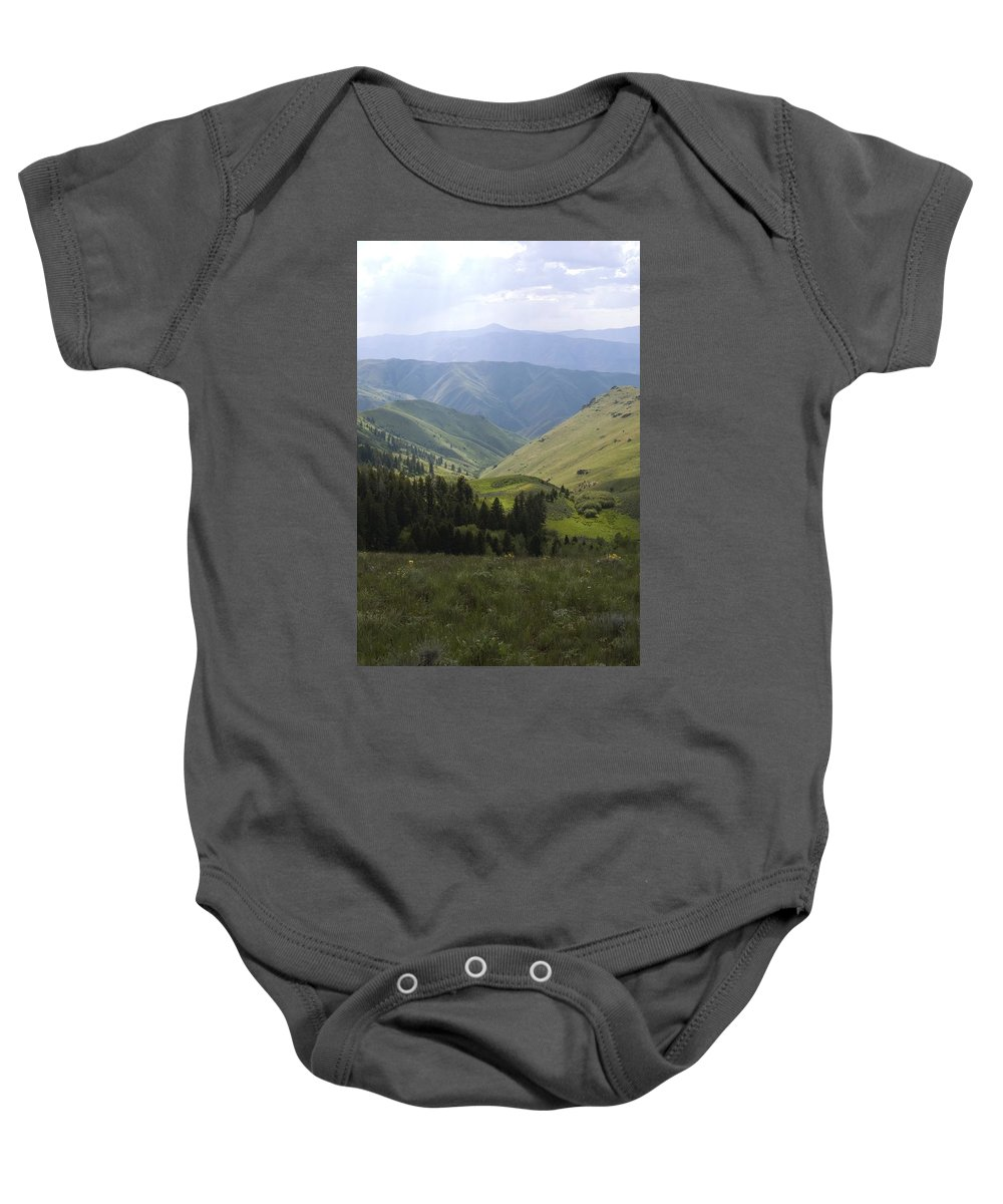Mountain Baby Onesie featuring the photograph Mountain Top 6 by Sara Stevenson