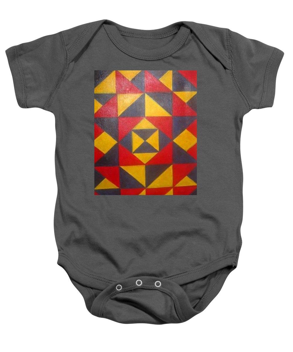 Abstract Baby Onesie featuring the painting Mountian Woman by Andrew Johnson