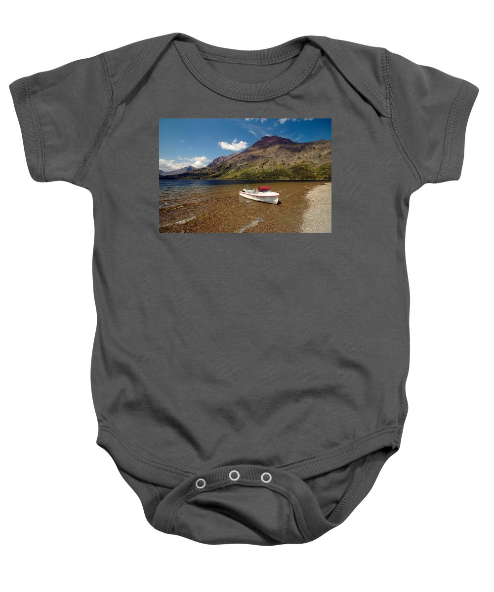 Moutains Baby Onesie featuring the photograph Moutain Lake by Sebastian Musial