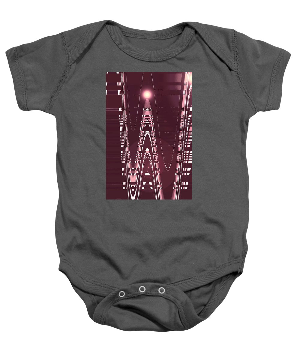 Moveonart! Digital Gallery Lower Nob Hill San Francisco California Jacob Kanduch Baby Onesie featuring the digital art Moveonart New American Indian Architecture 3 by Jacob Kanduch