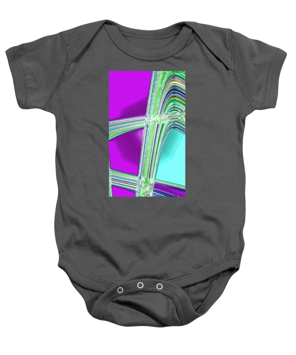 Moveonart! Digital Gallery Baby Onesie featuring the digital art Moveonart Provide Us With Waves Amen by Jacob Kanduch