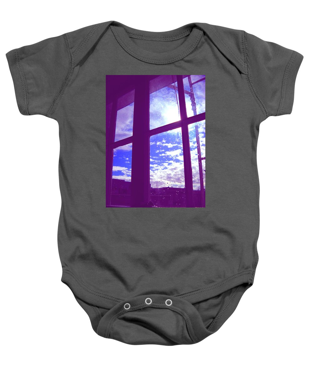 Moveonart Digital Gallery San Francisco California Lower Nob Hill Jacob Kane Kanduch Baby Onesie featuring the photograph Moveonart Window Watching Series 4 by Jacob Kanduch