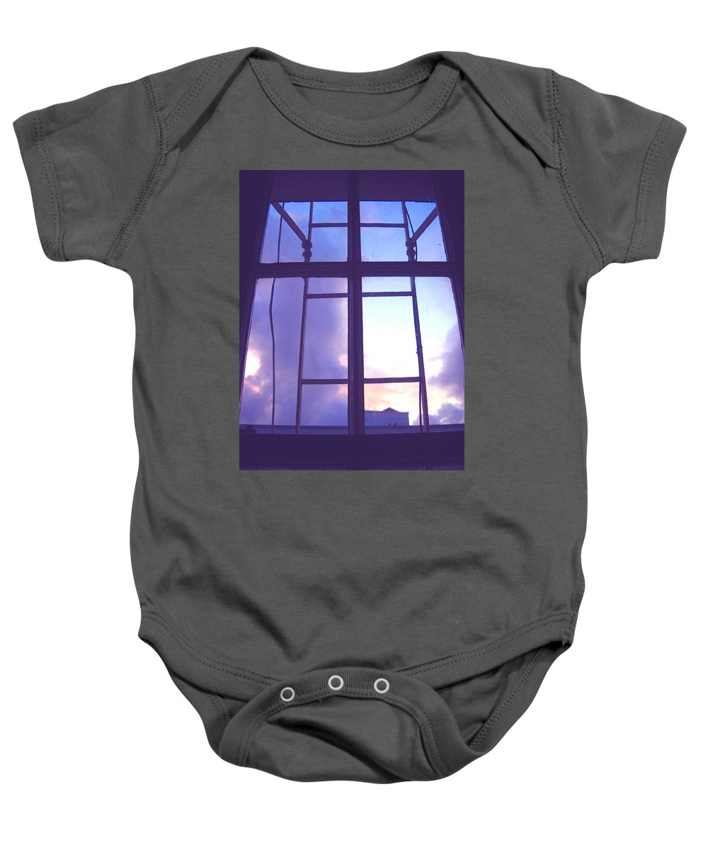 Moveonart Digital Gallery San Francisco California Lower Nob Hill Jacob Kane Kanduch Baby Onesie featuring the digital art Moveonart Window Watching Series 5 by Jacob Kanduch