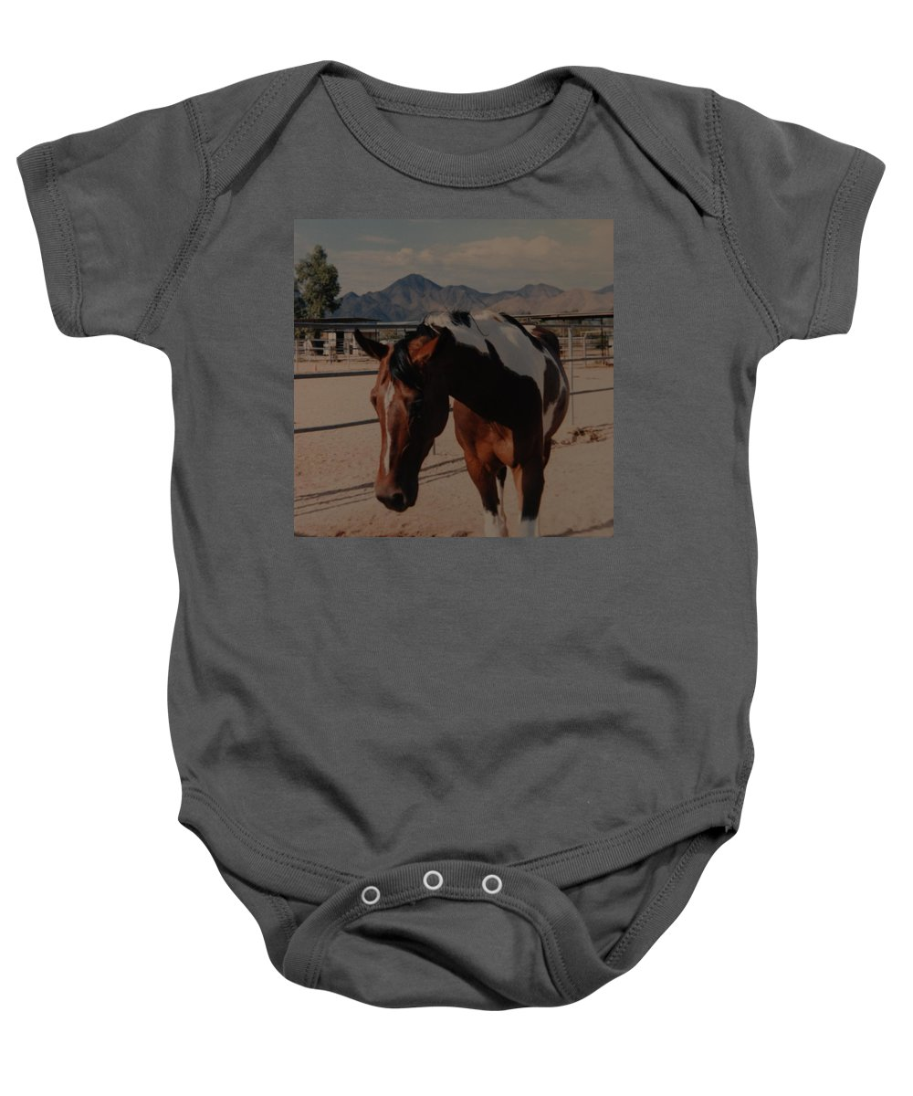 Horse Baby Onesie featuring the photograph Mr Ed by Rob Hans