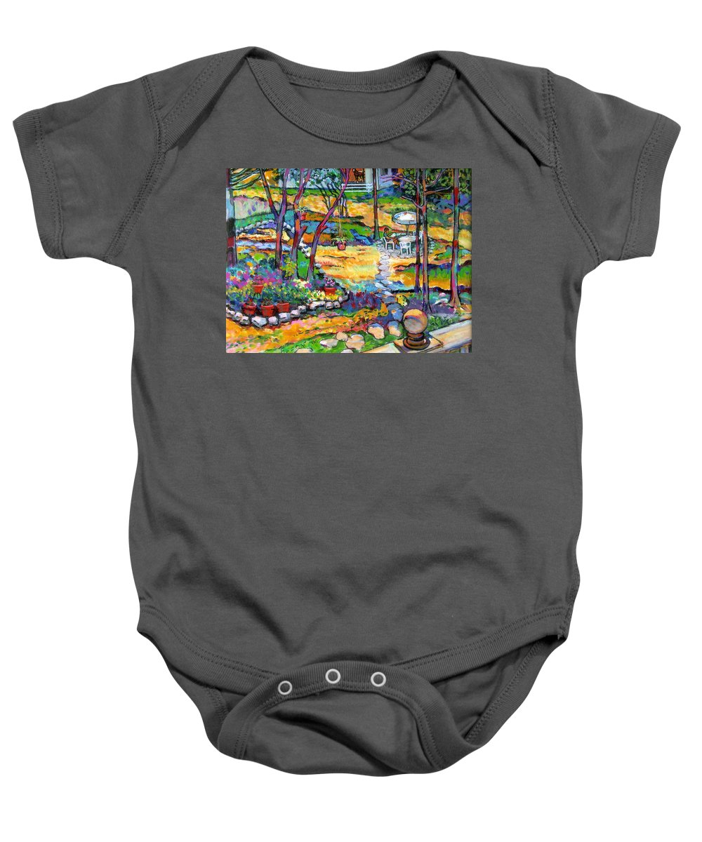 Landscape Baby Onesie featuring the painting Mr. Pickles by Stan Esson