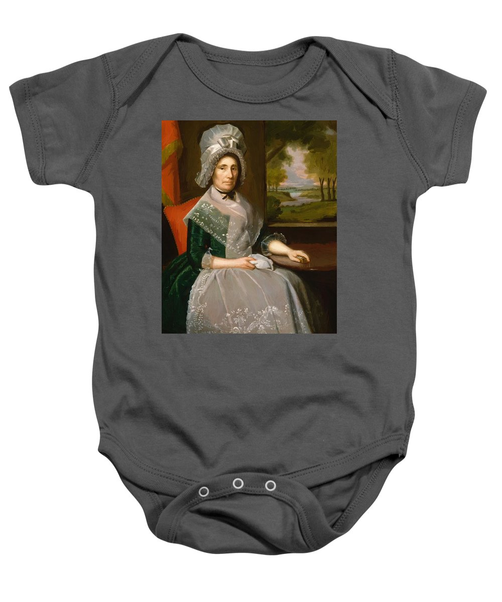 Mrs Baby Onesie featuring the painting Mrs Richard Alsop 1792 by Earl Ralph
