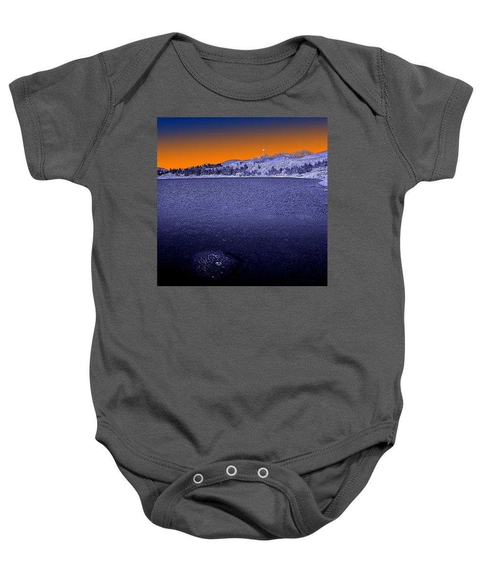 Lake Baby Onesie featuring the photograph Mucubaji Lake by Galeria Trompiz