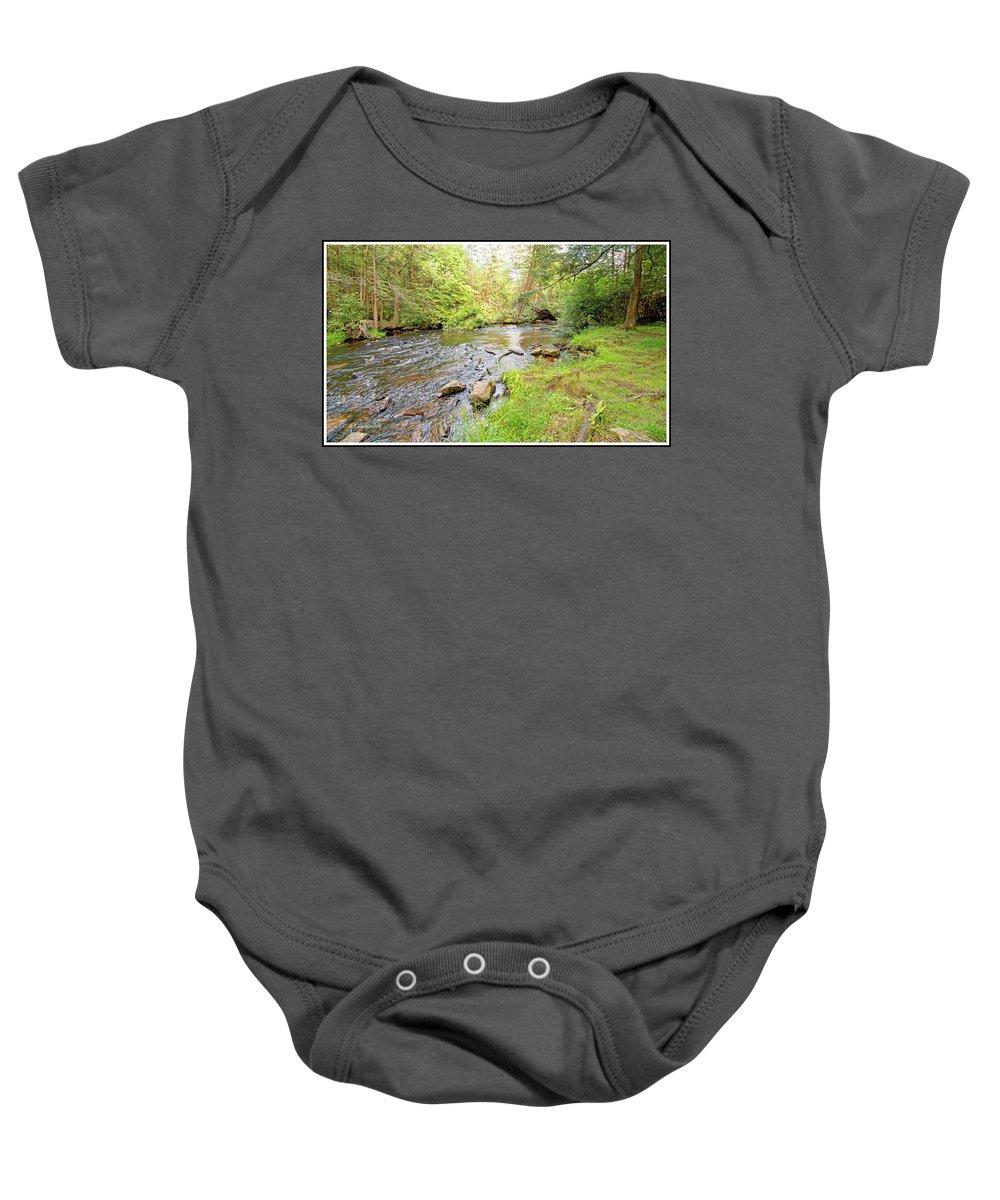 Mud Run Baby Onesie featuring the photograph Mud Run, Pennsylvania, Pocono Mountain Stream by A Gurmankin