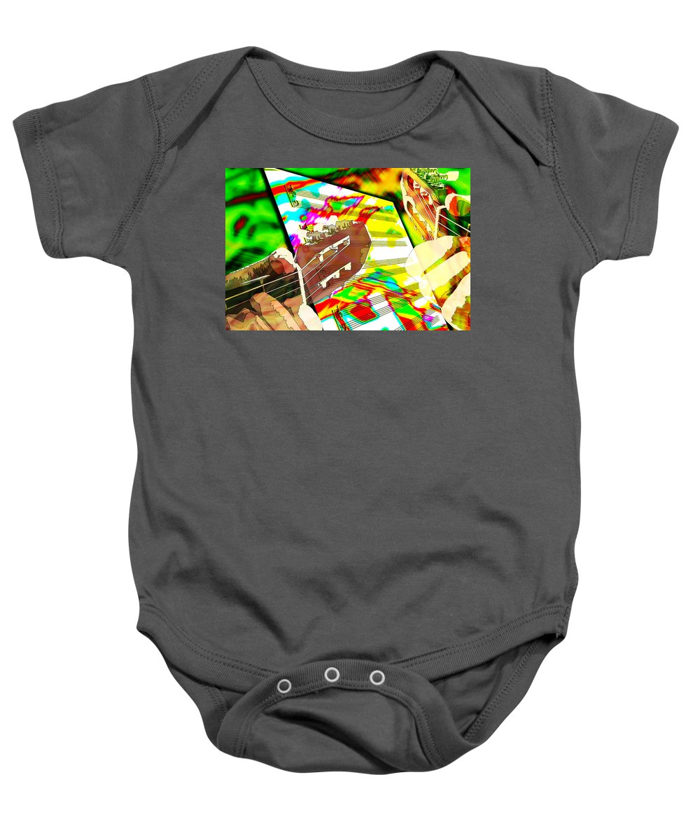 Guitar Baby Onesie featuring the digital art Music Creation by Phill Petrovic