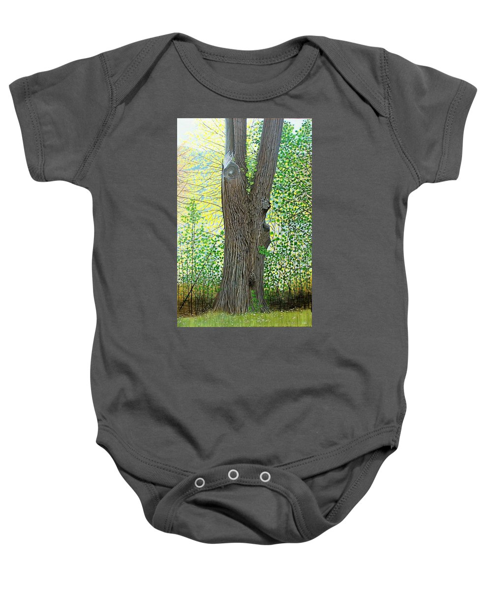 Landscape Baby Onesie featuring the painting Muskoka Maple by Kenneth M Kirsch