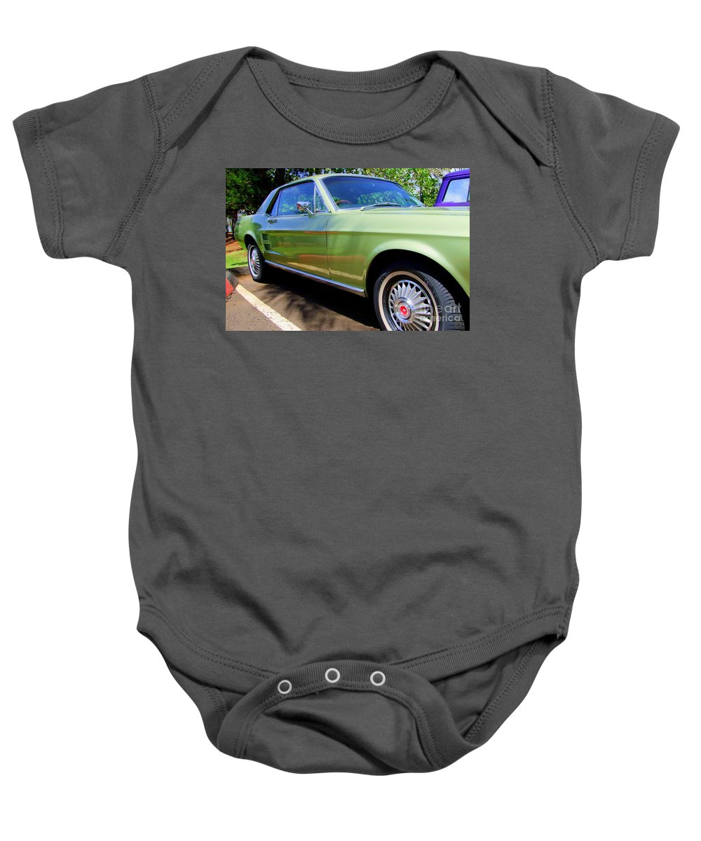Mustang Baby Onesie featuring the photograph Mustang Memories - 1 by Mary Deal