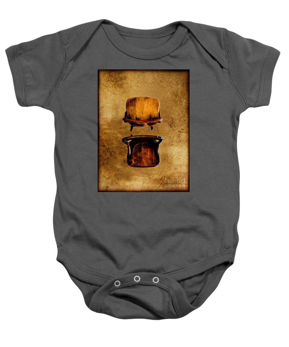 Concrete Baby Onesie featuring the photograph My Arms Were Around You And I Hoped That You Wouldnt Hurt Me by Dana DiPasquale